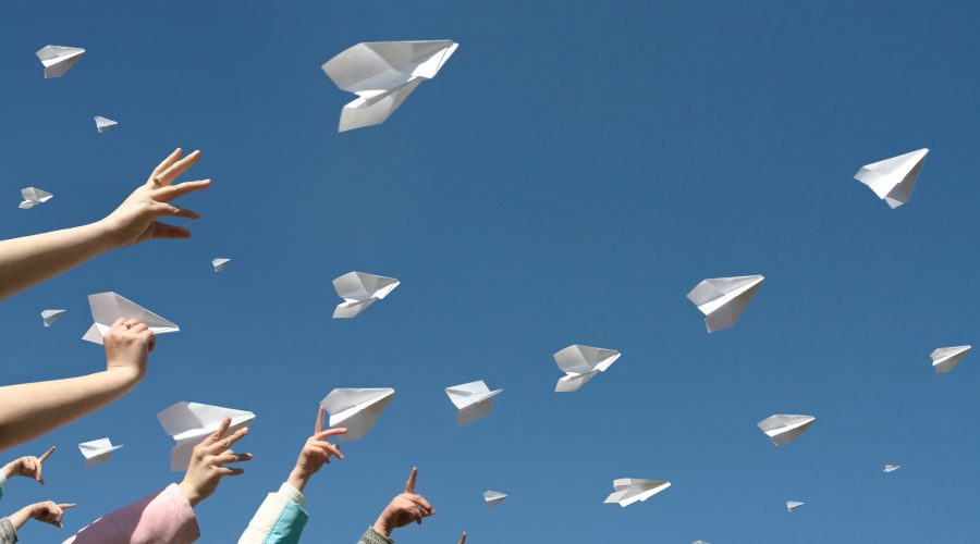 paper airplanes PRE-LEAP-RE